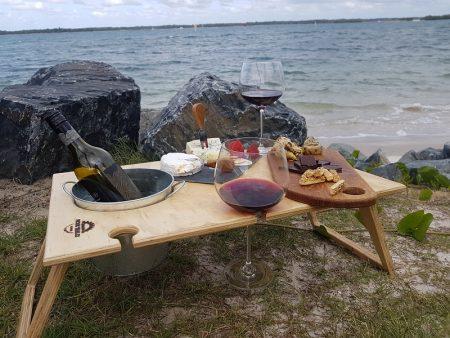 summer picnic tables
