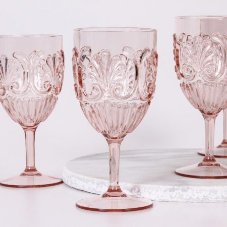 Acrylic Wine Glass - Pale Pink