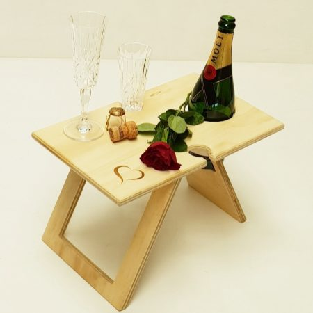 Petite Folding Wine Table