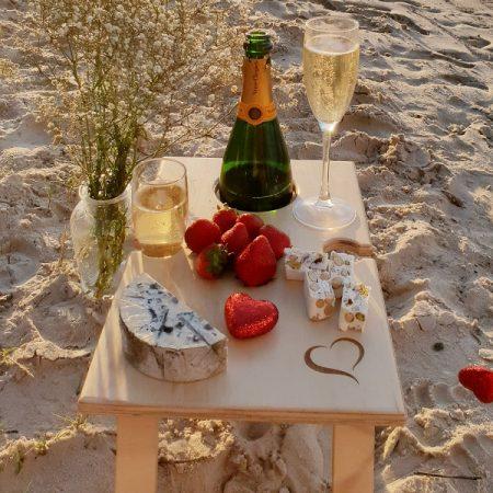 Petite Folding Wine Table