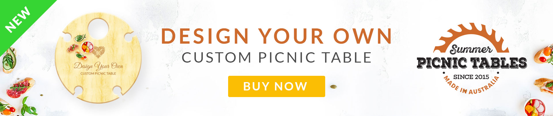 Design Your Own Custom Picnic Table